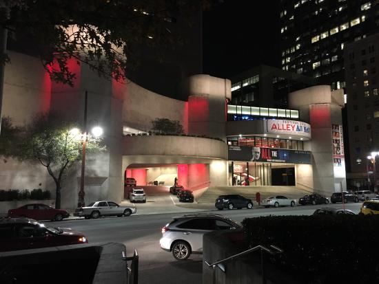 street view at night picture of alley theatre houston