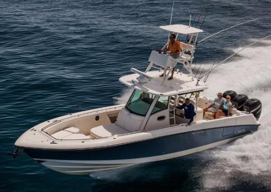 Dolphin Beach Club: Fishing charter boars available for rental at nearby marina