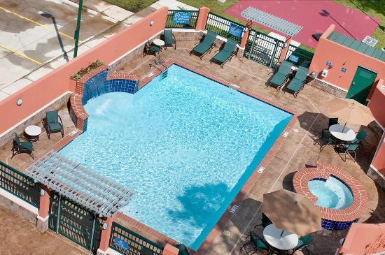 Aerial pool view picture of homewood suites by hilton slidell slidell tripadvisor - Rectangle pool aerial view ...