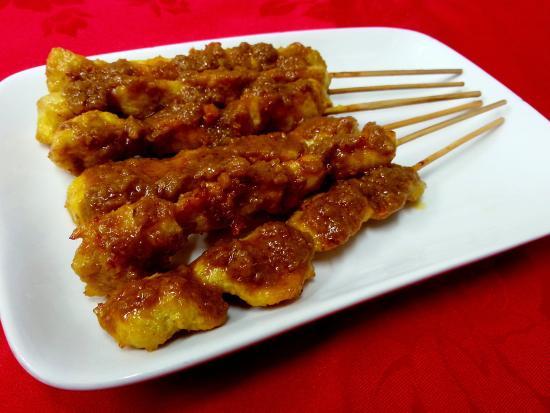 Malaysia Delights Street Food: Chicken Satay Skewer