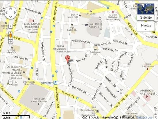 Valide Hotel: Map