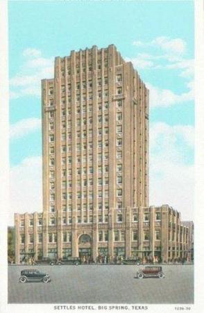 Big Spring, TX: Hotel Settles Historic Postcard