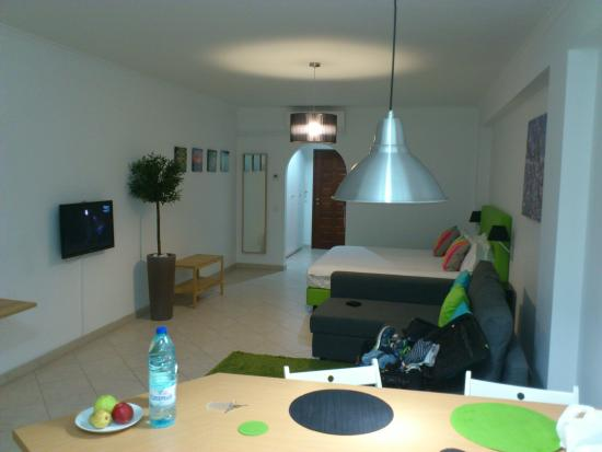 Fuseta, Portugal: Apartment. Looking from kitchen area.