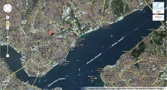 Taksim Istanbul Apart: Map