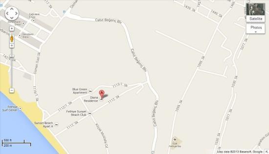 Diana Residence: Map