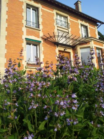 Lesches, France: View from the garden