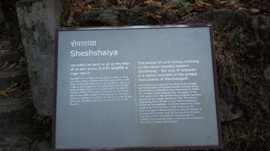 Bandhavgarh National Park, India: Shesh Saiya information