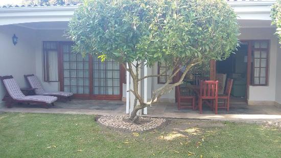 Sedgefield, Republika Południowej Afryki: Our rooms patio
