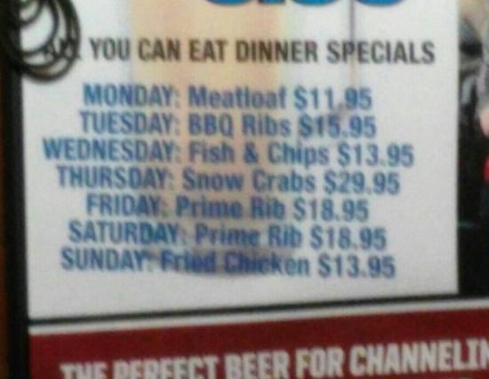 Redington Beach, FL: All-you-can-eat 5-10pm daily