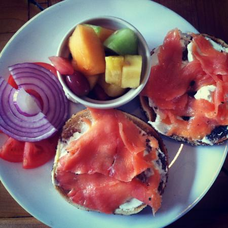 Youngstown, NY: Everything Bagel with Lox