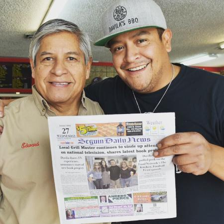 Davila's BBQ featured on Seguin Daily News