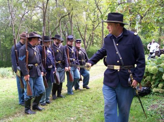 Λέμπανον, Οχάιο: Civil War Re-enactors at Glendower Historic Mansion