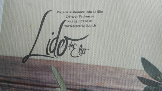 Faulensee, Zwitserland: Ristorante Lido da Elio