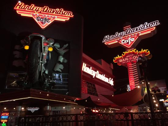 harley davidson las vegas cafe on the strip - picture of harley