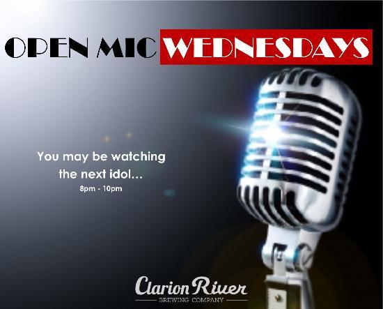Clarion, Пенсильвания: Starting February 3! Open Mic Night Wednesdays 8-10