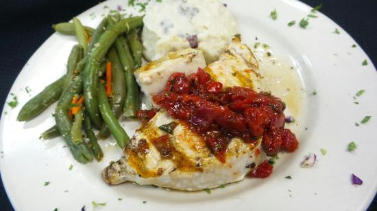 Bowling Green, OH: Swordfish with Cherry Jalapeno Salsa