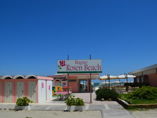 Hotel Rosen Garden : spiaggia privata