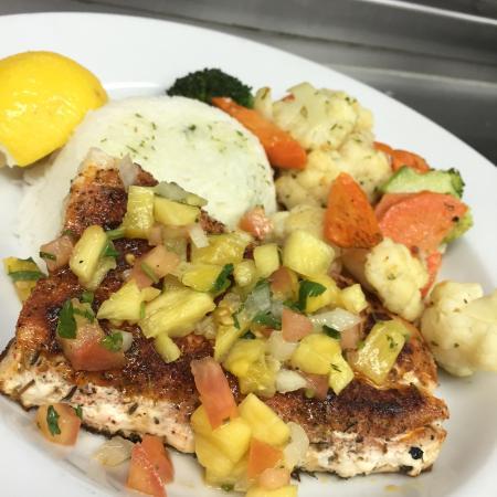 Lisle, IL: BLACKENED MAHI MAHI DINNER WITH BASMATI RICE AND SEASONAL VEGGIES