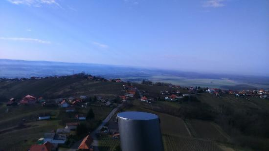 Lendava, Slovenia: View from top of tower. :-)