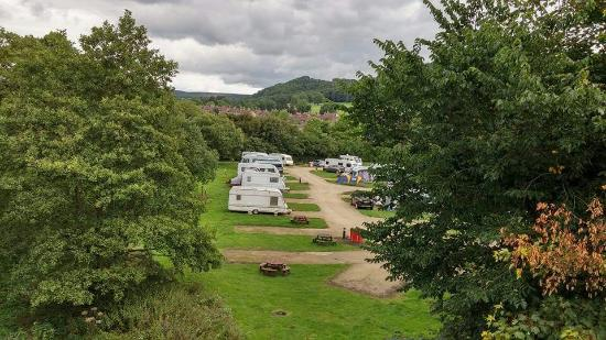Rowsley, UK: The Grouse and Claret Caravan site
