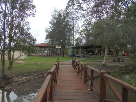 Maryborough, Αυστραλία: Woocoo park Bridge