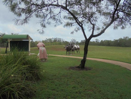 Maryborough, Australia: Some of the many Woocoo park  sculptures