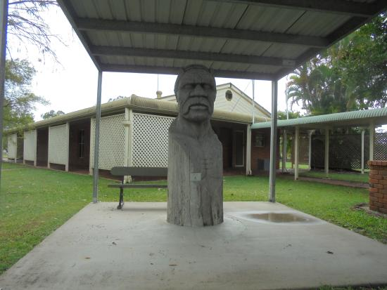 Maryborough, Australia:   Wook-koo himself, which was carved from a grey ironbark tree
