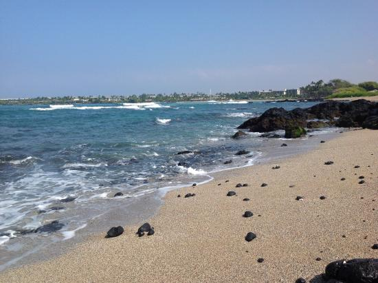 Waikoloa, Hawaï : One of many little beaches south from the main beach