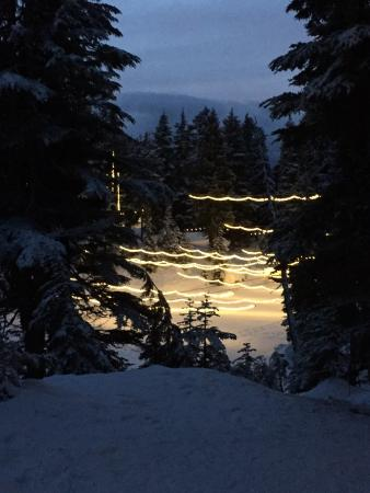 North Vancouver, Kanada: 電飾の道の途中 夕方がお勧め