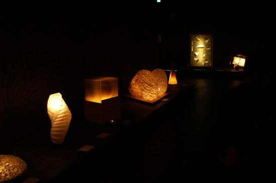 Mino, Japonia: Exhibition in darkness