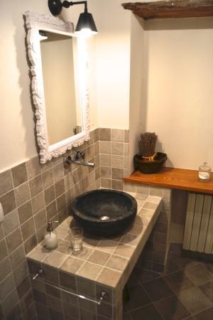 Capannori, Italia: Camera verde bathroom