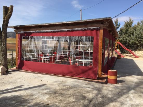 Mariana, Hiszpania: Terraza con carpa