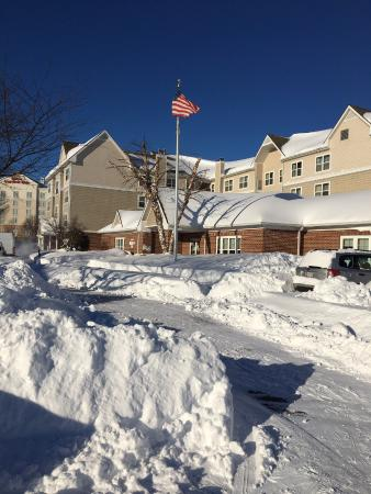 Residence Inn Frederick: Front of hotel after blizzard