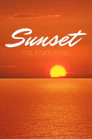 Amoudaki All Day Coffee Bar: Folegandros Sunset