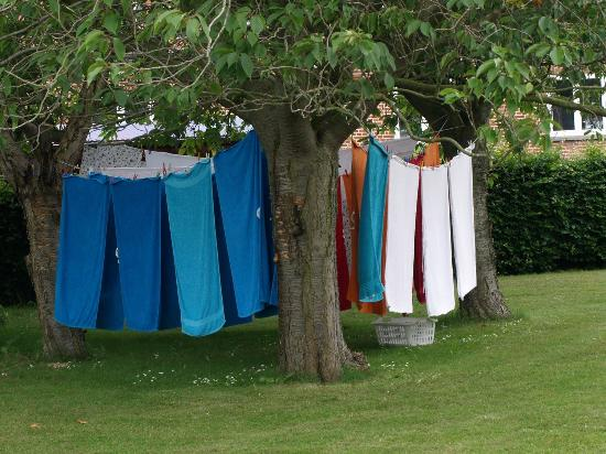 Noerreballe, Denmark: We use the wind to dry the laundry