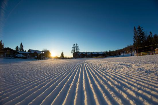 Dover, VT: Perfect corduroy ready for skiers every morning at Mount Snow