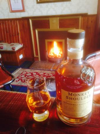 Bonar Bridge, UK: A dram by the cosy fire is a great way to end a day out.