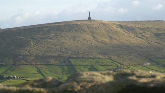 Todmorden, UK: View across to Stoodley Pike from the Great Rock