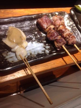 Teppan Jinja, Dotombori: the best boneless chicken wings and pork asparagus very crisp my god i love this place, scallop