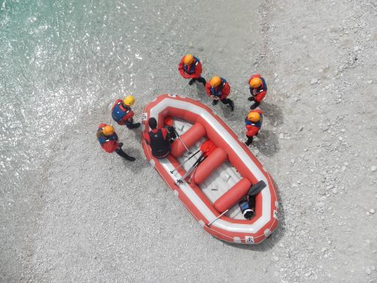 Bovec, Slovenien: Rafting . Soča river. Bevel. Slovenia