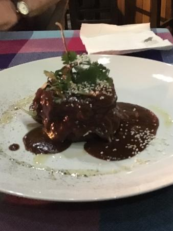 San Francisco, Meksika: Maxing food! Incredible sauces! This is the beef dish with mole sauce. Yum!