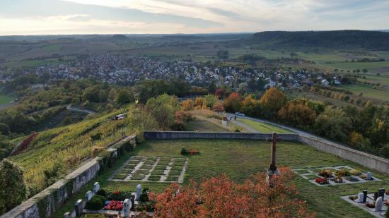 Rottenburg am Neckar, Germany: Blick nach Westen von der Wurmlinger Kapelle über Wurmlingen
