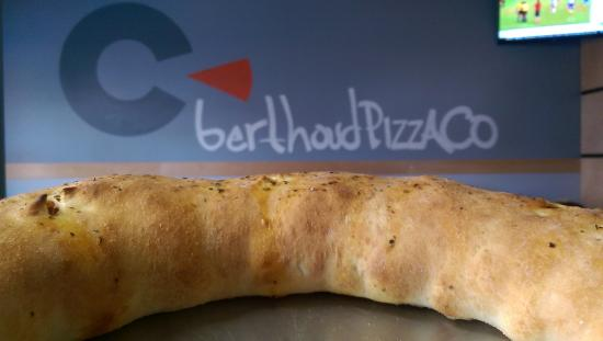 Berthoud, Колорадо: Stromboli with house made sausage, uncured bacon and ham, mustard, mozzarella, and sharp cheddar