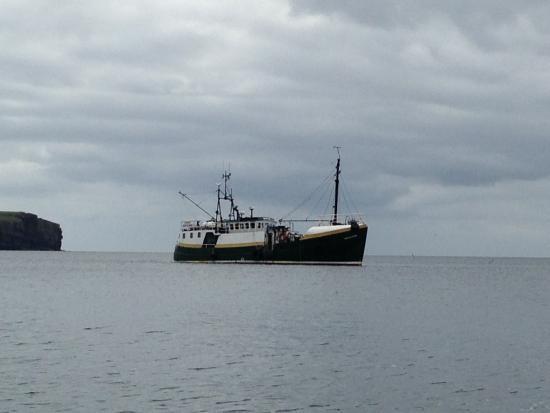 Kirkwall, UK: MV Vakyrie from the rib