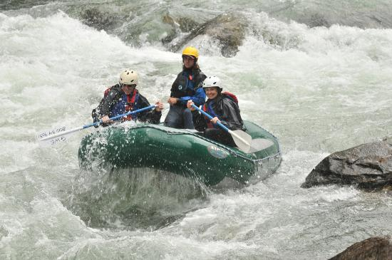 Geyser Whitewater Expeditions: rafting with guide Clay