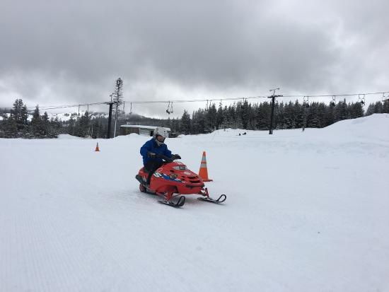 Truckee, CA: Mini snowmobiles. Only one in operation the day we visited.