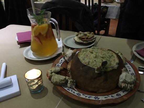 Moita, Πορτογαλία: Açorda de Sapateira em pão Saloio