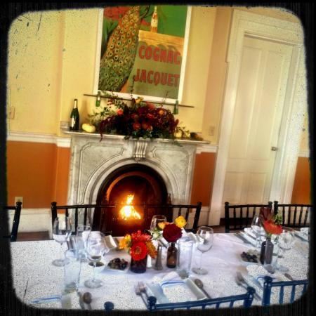The Parker House Inn and Restaurant: fireside dining