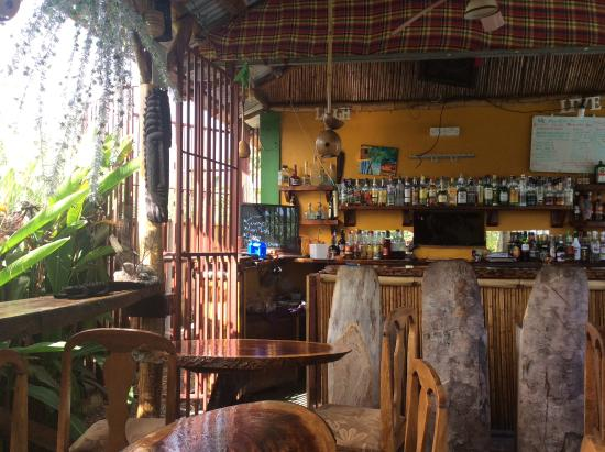 Calibishie, Dominica: A lovely setting open air restaurant