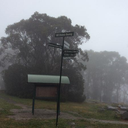 Warburton, Australia: Very cold spot, signpost showing details
